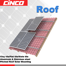 Slate tile solar panel roof mounting brackets with Stainless steel slate tile hoo2 and Aluminum rail install solar mounting
