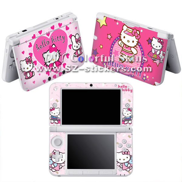 High Quality Vinyl Skin Sticker for Nintendo 3ds xl for dsi xl for 3ds with Hello Kitty Designs