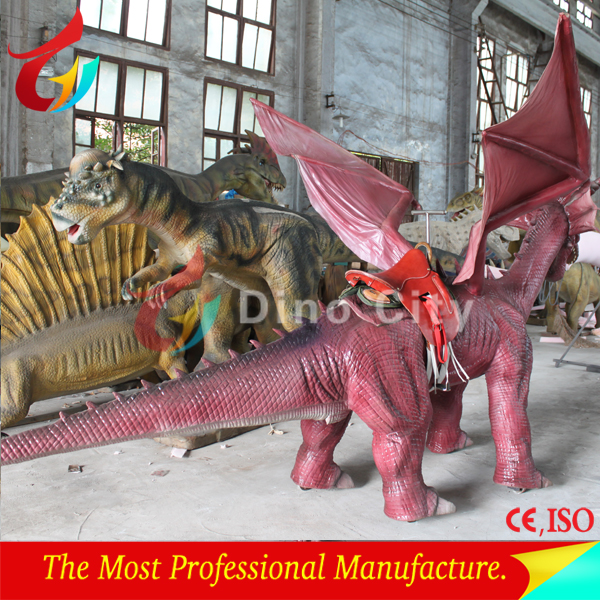 Amusement Park Life Size Walking Dinosaur Animatronic Dragon