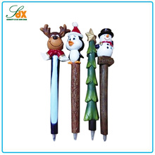Super quality most popular cute polyresin Christmas set ballpoint pens