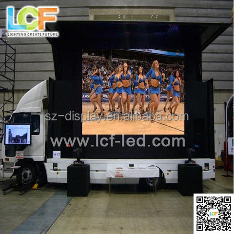p16 Small LED truck with screen and led mobile stage truck for hot sale