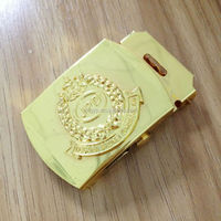 Wholesale western brass 24k gold belt buckle
