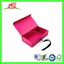 Q1454 China Manufacture Wholesale Red Ribbon Matt Lamination Recycled Cardboard Gift Boxes