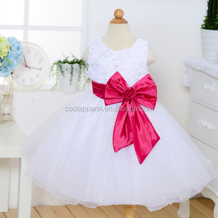frock designs for small girls,sleeveless ribbon flowers dress baby for 2-7years