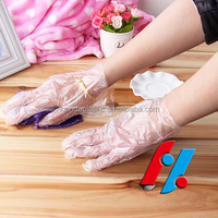 KH LDPE 018 wash /hair salon glove cuff disposable gloves