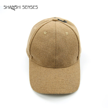 Brown color mens bulk wool baseball cap