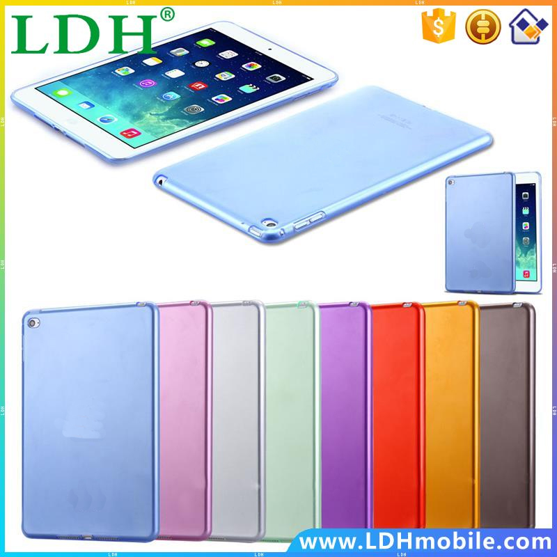 Fashion Slim Transparent Case For iPad mini 4 Clear Soft TPU Candy Ultra Thin Back Cover for Apple iPad Mini 4 Shockproof Casual