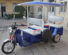 48V 850W Electric 3 wheels passenger auto tricycle rickshaws with UNITE motor