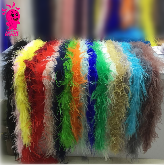 Wholesale manufacturers multicolor decotation ostrich and turkey boa