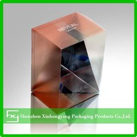 Clear plastic boxes for cosmetic, printing plastic box for essential oil bottles
