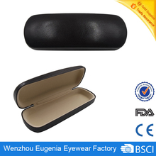 China supplier pu glasses case customized logo reading glasses case