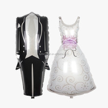 Cheap Groom And Bride Wedding Dress Suit Helium Medium Size Foil Balloon Marriage Stage Decoration Balloons