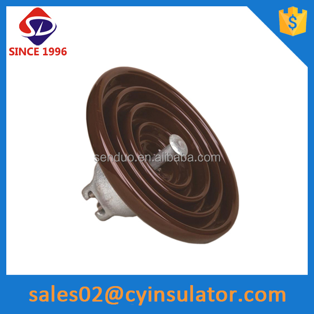 ceramic disk insulator for electric transmission tower