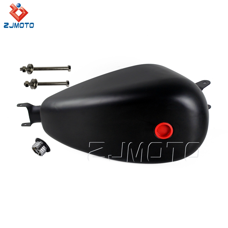 Factory Price ZJMOTO High Quality Iron 3.3 Gallon Black Motorcycle Fuel Tank For 2007-2016 Harley Davidson Sportster XL 1200 883