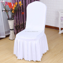 Factory price wholesale hotel luxury stacking sashes feather theater fabric chiffon chair cover