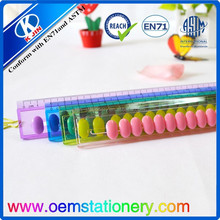 free sample 8 inch plastic ruler for promotion
