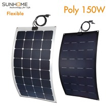 SUNHOME 150W flexible solar panel ppoly module watt