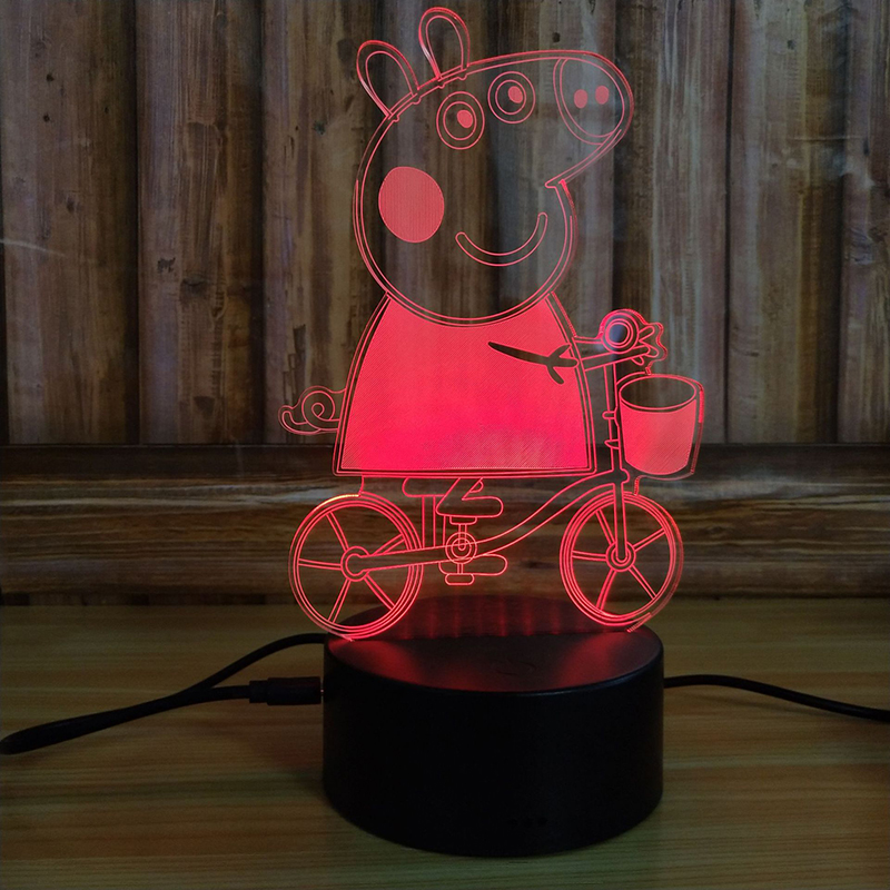 Hot Sale 3D LED  Night Light USB Power Battery  3D  Illusion Night Light  For Kids Gift