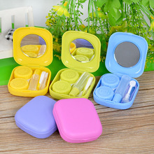 Hot Sale Eyeglasses Case Cute Mini Contact Lens Easy Carry Case Contact lenses box container contact lens case