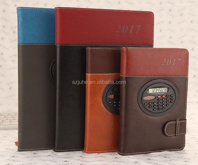 2018 NEW Wholesale custom pu notebook with pen business notebook with scientific calculator pu leather notebook