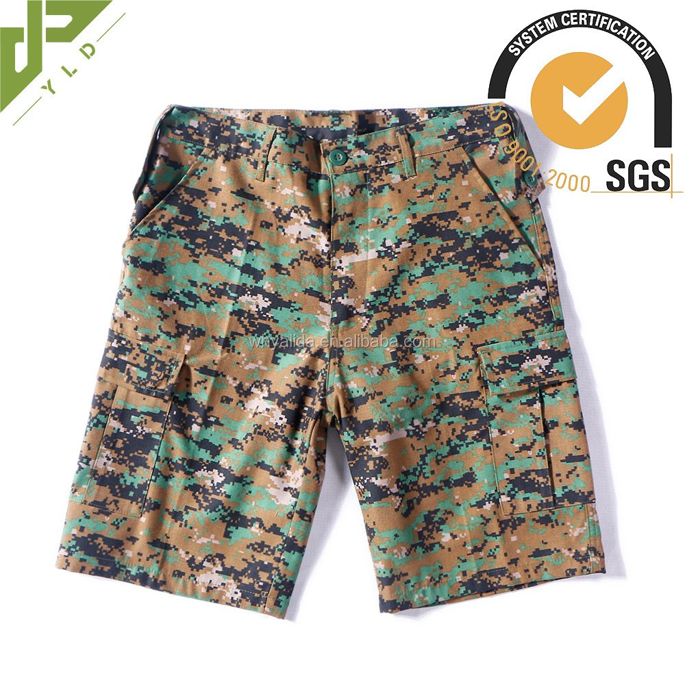 china factory cotton military mens camo cargo shorts