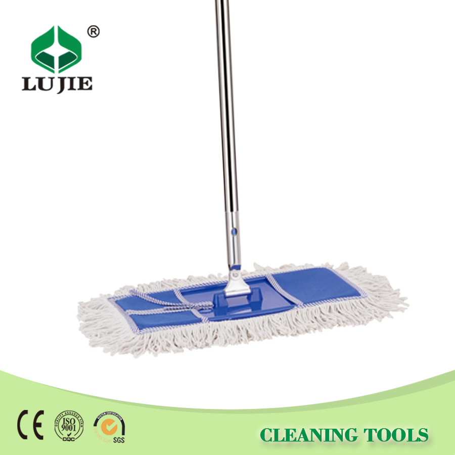 Stainless steel handle cotton head flat smart mop with best price