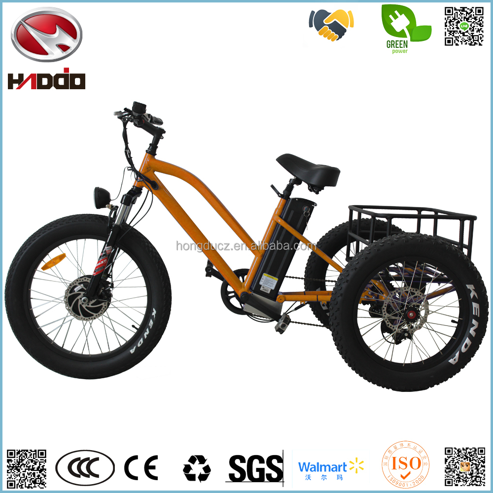 Latest 3 wheel electric bicycle for passanger fat tire beach tricycle