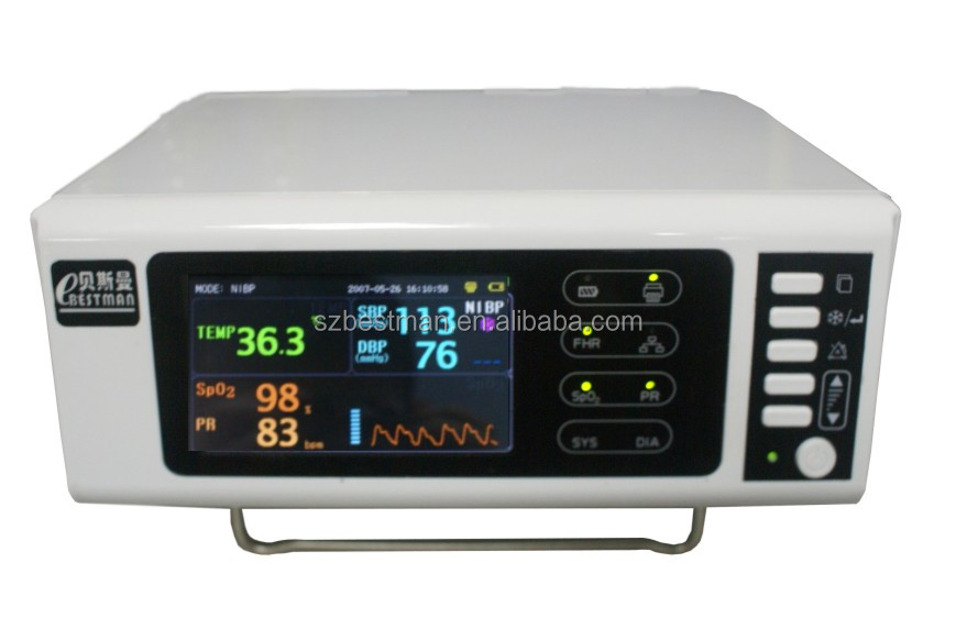 Bestman vital sign monitor patient monitor for SpO2 NIBP TEMP BSNT-100