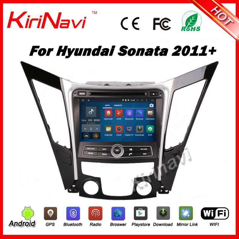 "Kirinavi WC-HS8027 android 5.1 8"" car dvd player for hyundai sonata 2011-2016 car audio GPS stereo navigation system 3G WIFI"