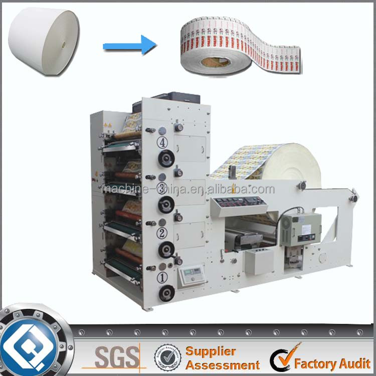 RY-850 automatic four color roll paper cup printing machine price