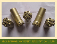 Thread Button bit, T38 Button bit. Bench drilling T38 rock drill bit