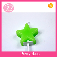 Hot new candle for 2015 Eco friendly paraffin wax multi colored star shape candle