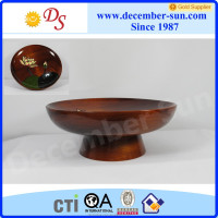 decorative wood fruit bowl small wooden serving food tray