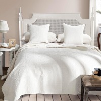 KOSMOS- 100% cotton white satin comforter sets
