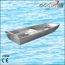 1.2mm thickness J type small flat bottom aluminium boats for sale
