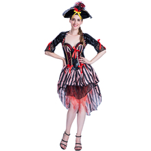 Adult women sexy pirate costumes for Halloween cosplay party fancy dress