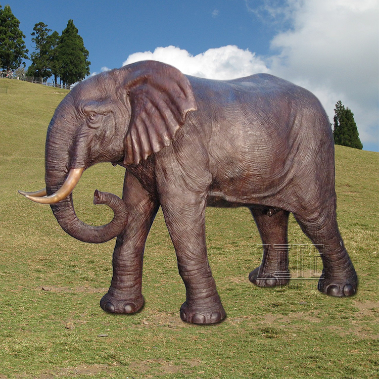 Garden Decorative Life Size Modern Arts Bronze Elephant Statue Sculpture
