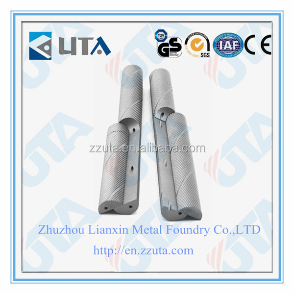 tungsten carbide raw material carbide rod with two spiral holes