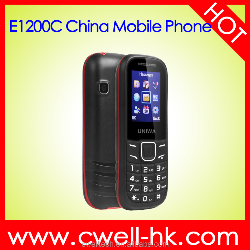 UNIWA E1200C 1.77'' Inch Quad band Low Price china Handphone with FM Radio