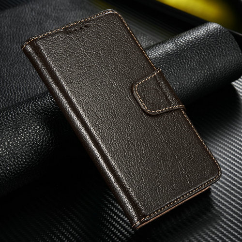 Leather Stand Genuine Case For Samsung Galaxy Note 4 With Credit Card Slot