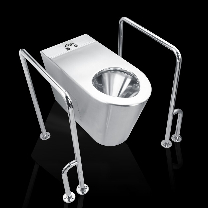All Sanitary Items 304 Stainless Steel Auto Flush Toilet for the Elderly and Disabled