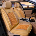 cool woodenn beads car seat cover cushion with leather