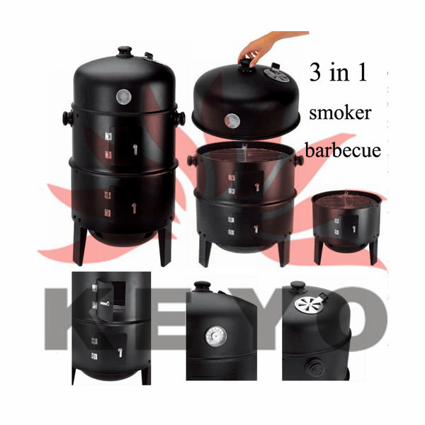 Charcoal Barbecue Fish Smoker Oven Grill KY8540