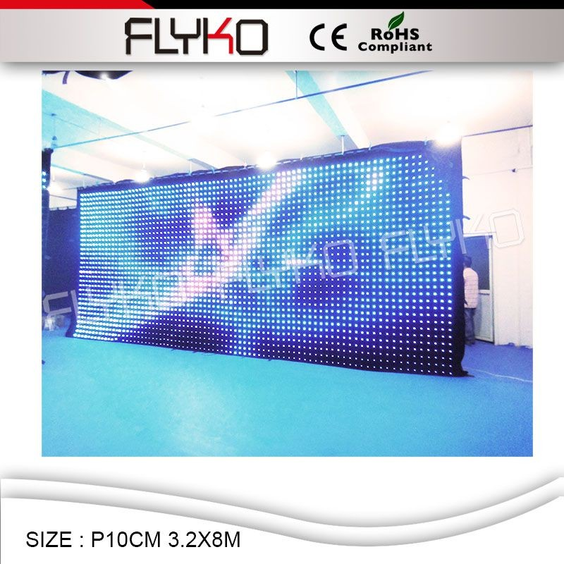 NEW Full Color Flexible LED Display Screen P10CM Indoor festival party LED Video Curtain Display