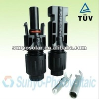 applied PV-Test plug socket IP68 TUV certificated MC4 solar pv connectors