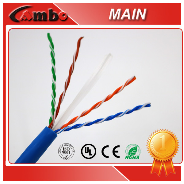 Five Start Quality Ethernet Cable 4 Pairs Solid Bare Copper cat6 utp wire