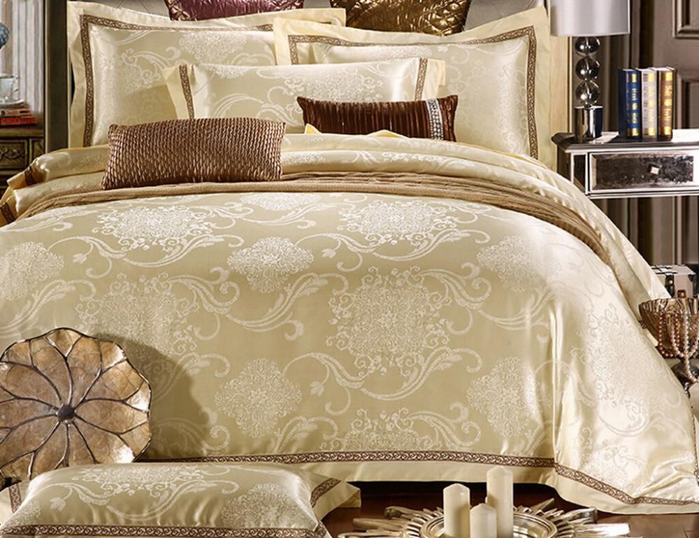 Colorful Silk Cotton Satin Jacquard Quality Duvet Cover