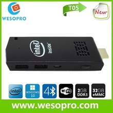 Mini pc dongle TV Wintel box Win 10 mini pc 2 in 1 Dual OS Win 10 & Android4.4 dual boot Smart TV box 2G+32G