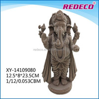 Resin flocked ganesh decoration