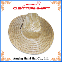 Wholesale stripes clear wide brim farmers paper straw hats